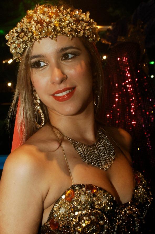 Dany fantasiada de Odalisca no Bal Masqué - Crédito: Nando Chiappetta/DP/D.A Press