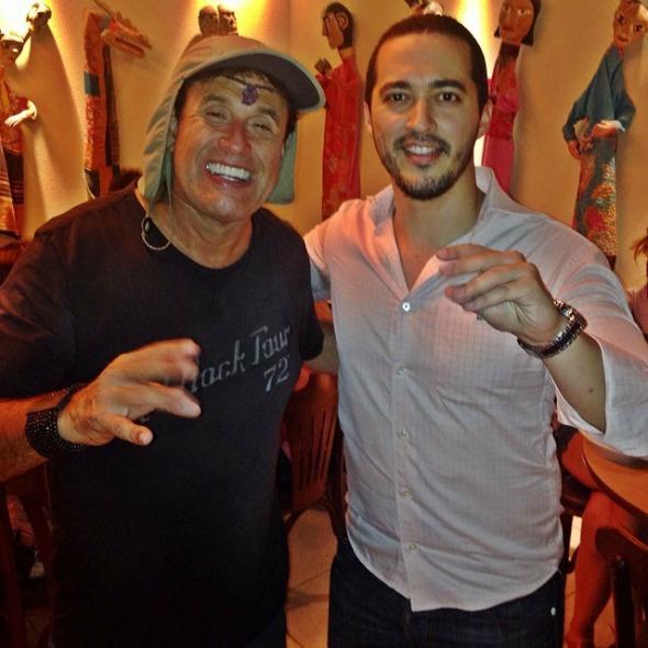 Sergio Mallandro e Bill Lucena, no Ilha Sertaneja - Crédito: Arquivo pessoal/Divulgação