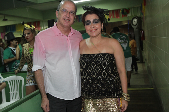 Desembargador Mauro Alencar e a mulher, a advogada Cláudia Alencar - Crédito: Roberto Ramos/DP DA Press