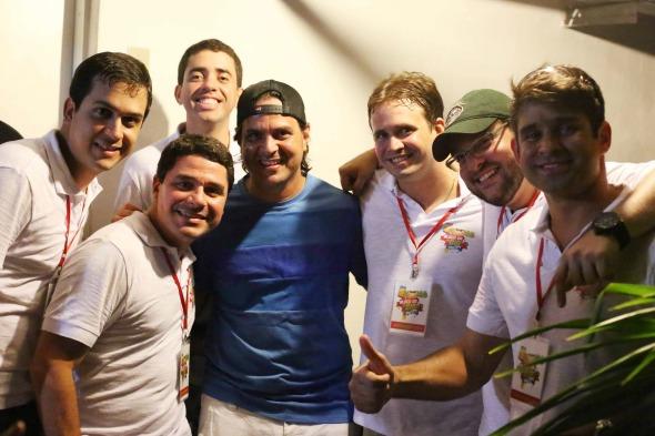 Bruno Rêgo e os produtores Crédito: Saulo Dal Bó / Lumi Comunicação Integrada