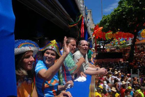 Dilma Rouseff e Eduardo Campos no camarote do Galo/DP