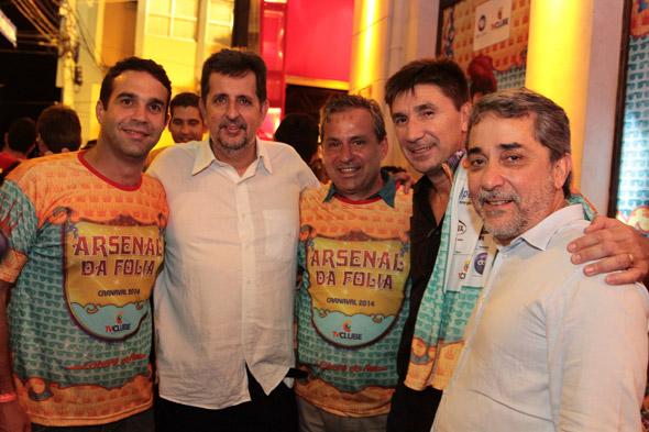 Carlos Percol, Marcelo Canuto,Tadeu Alencar, Janguiê Diniz e Guilherme Machado - Crédito: Nando Chiappetta/DP/D.A Press