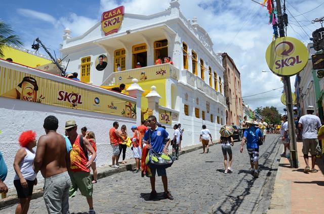 A Casa da Skol/TV Clube está instalada no casarão de Alceu ValençaCrédito: Cristiane Silva/DP/D.A Press