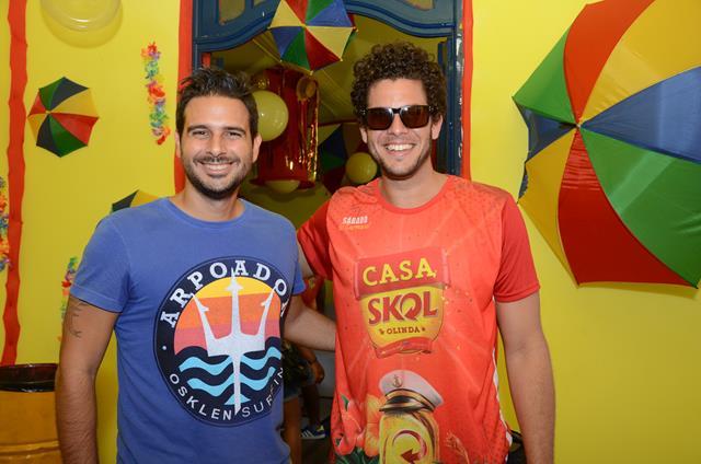Fábio Trindade e Ramon Muller Crédito: Cristiane Silva/DP/D.A Press