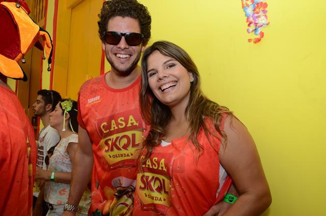 Ramon Muller e Larissa Trindade Crédito: Cristiane Silva/DP/D.A Press