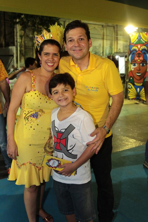 Cristina Mello, Geraldo Julio e Rodrigo - Crédito: Nando Chiappetta/DP/D.A Press