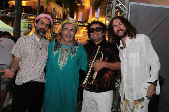 Fábio Trummer,Getúlio Cavalcanti, Maestro Forró e Silvério Pessoa - Crédito: Nando Chiappetta/DP/D.A Press