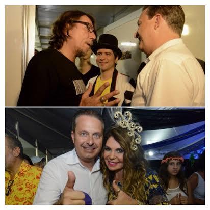 Eduardo no backstage com Lenine e Elba Ramalho - Foto: Instagram Eduardo Campos