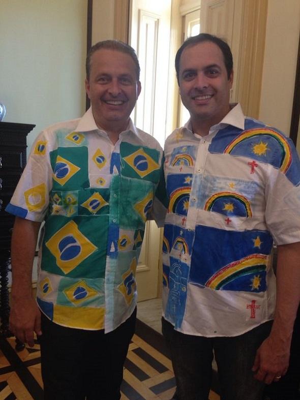Eduardo Campos e Paulo Câmara - Crédito: Cecília Ramos/DP/D.A. Press