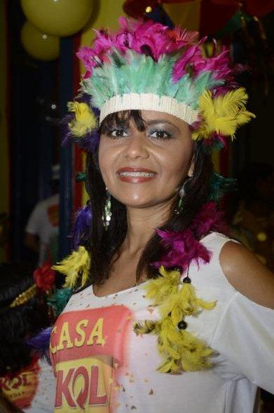 Lilia Alencar é de Teresina e veio conhecer o carnaval de Olinda Crédito: Cristiane Silva/DP/D.A Press