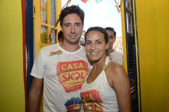 Rafael e Monise Garcia curtem a Casa da TV Clube/Skol pelo segundo ano consecutivo Crédito: Cristiane Silva/DP/D.A Press