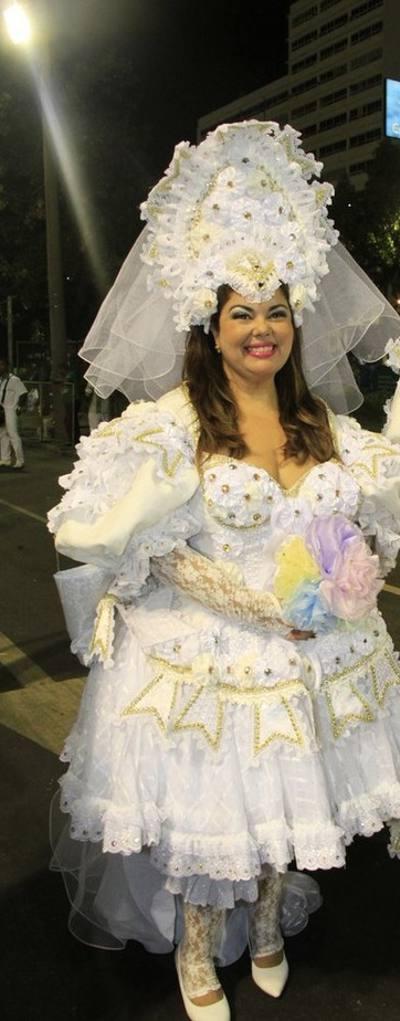 Fabiana Karla, no desfile da Mocidade/Reprodução