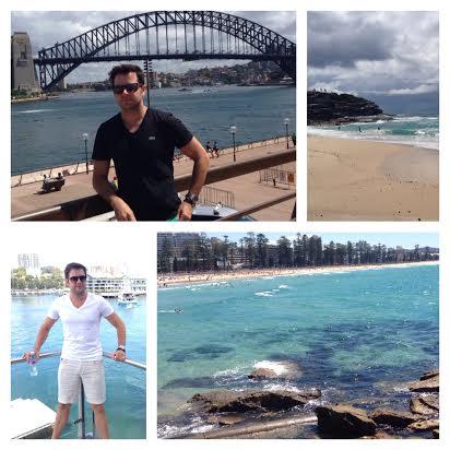 Heracliton Diniz curtindo a Austrália - Fotos: Cortesia