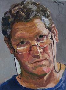 Roberto Ploeg em autoretrato - Foto: Site oficial do artista