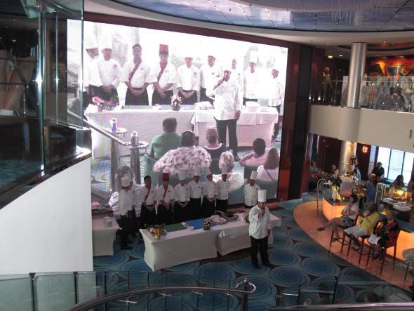 Aulas com os chefs do navio