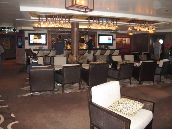 Um dos muitos lounges