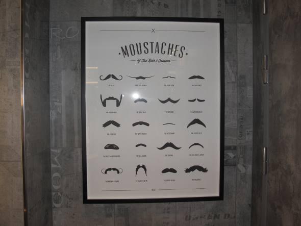Os vários tipos de bigodes na barbearia