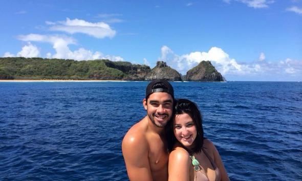 Gabriel Diniz embarcou para Fernando de Noronha com a namorada, Paula Brandão - Crédito: Arquivo pessoal/Gabriel Diniz
