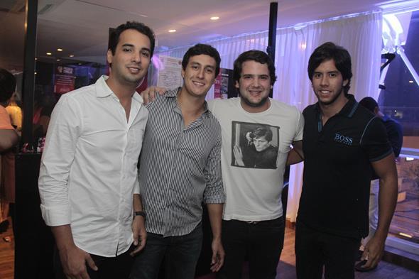 Clovis Farias, Felipe de Almeida, Lucca Cadorin e Rodrigo Motta - Crédito: Gleyson Ramos/Divulgação