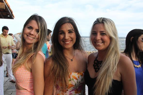 Priscila Farias, Carolina Oliveira e Gledja Lidian - Crédito: Diogénes Leite/Divulgação