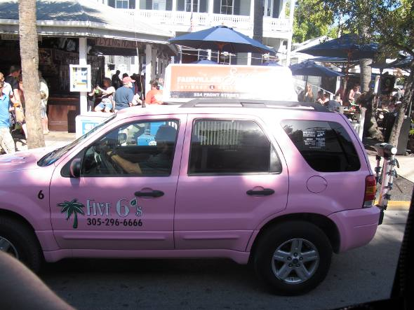 Taxi pink