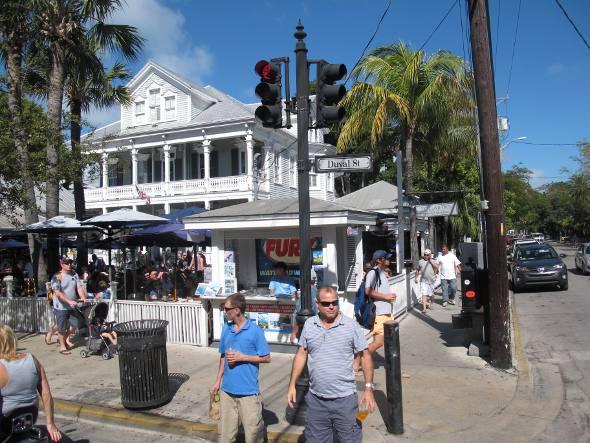 Lojas no centro de Key West