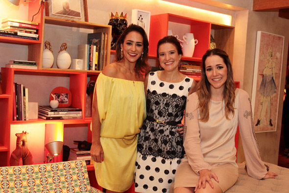 Soraya Carneiro Leão, Danielle Paes Barreto e Bruna Lobo. Crédito: Nando Chiappetta/DP/D.A Press
