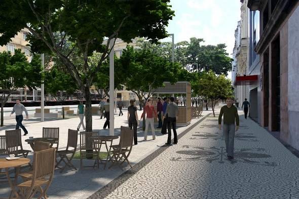 Projeção da via Passeio Rio Branco pronta - Foto: Divulgação