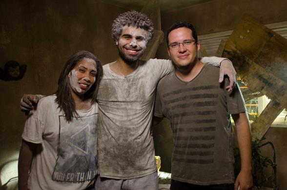 A produtora executiva Anny Fernandes, o diretor Carlos Nigro e Leandro Siqueira Crédito: Maristela Martins/Divulgação