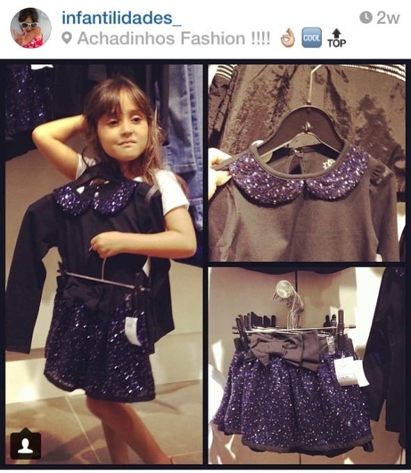 Os achadinhos fashion de Laurinha. Um arraso !!. Crédito: Reprodução @infantilidades