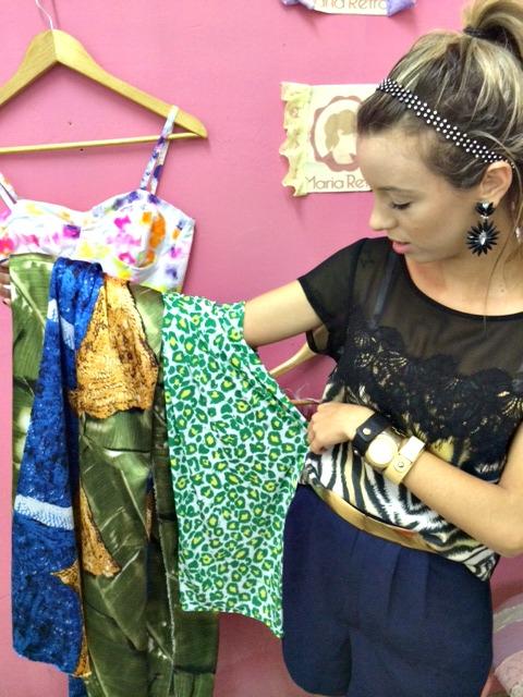Nathália Freire investe em tecidos que remetem aos tons verde, amarelo e azul com coleção exclusiva para a Copa - Crédito: Thayse Boldrini/DP/D.A Press
