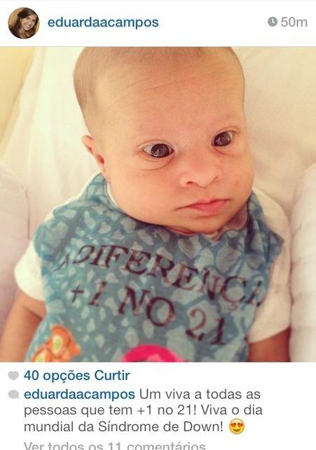 Miguel, filho do governador Eduardo Campos - Crédito: Reprodução do Instagram