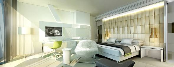 O luxuoso apartamento