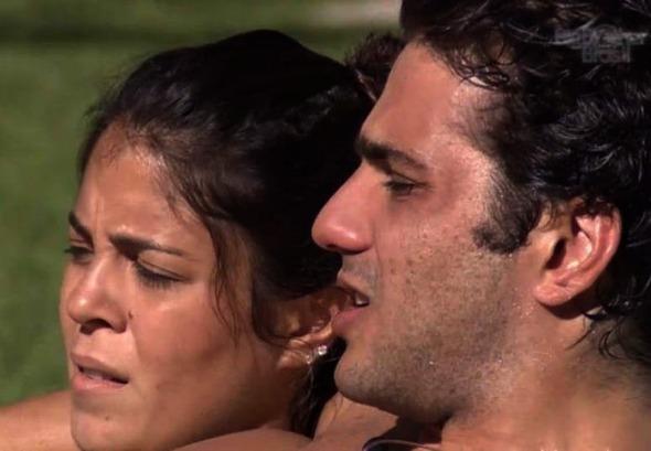 Bella Maia e Júnior no BBB 14 - Crédito: Reprodução da TV Globo/BBB 14