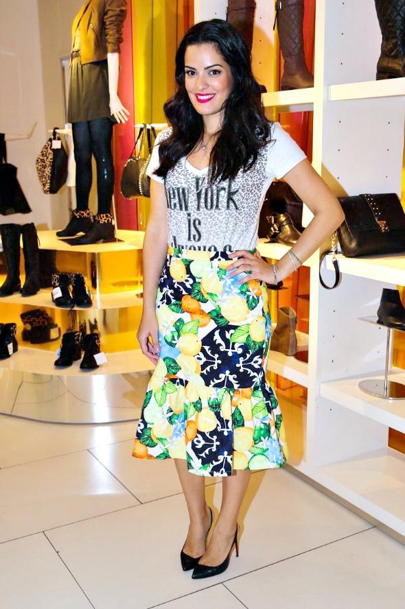 A blogueira Mariah Bernardes prestigiou o lançamento da coleção na C&A - Crédito: C&A/Divulgação