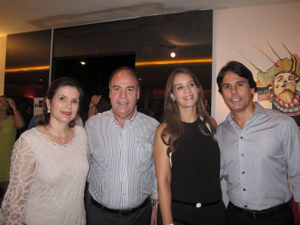 Adriana e Fernando Bezerra Coelho e Patrícia e Aldo Guedes