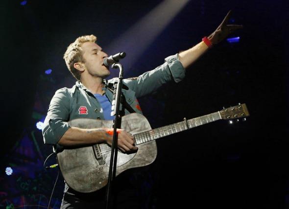 Chris Martin, do Coldplay - Crédito: Reprodução do site oficial