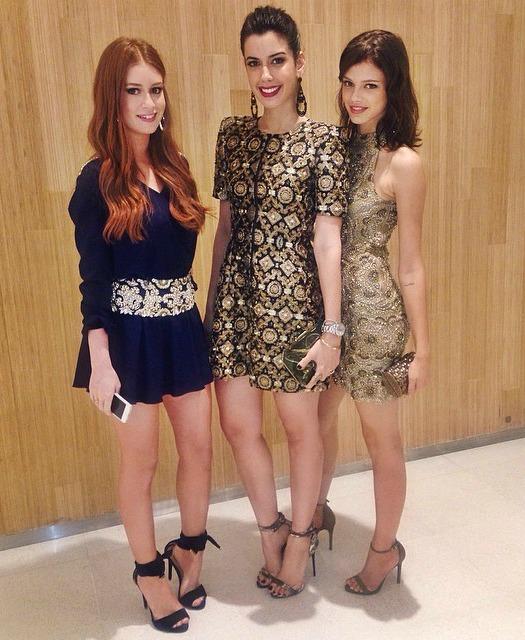 Marina Ruy Barbosa, Camila Coutinho e Laura Neiva - Crédito: Reprodução do Instagram