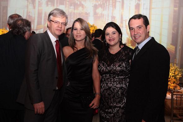 Erwin e Soraya Friedheim, Priscila Krause e Jorge Branco Crédito: Nando Chiappetta/DP/D. A Press