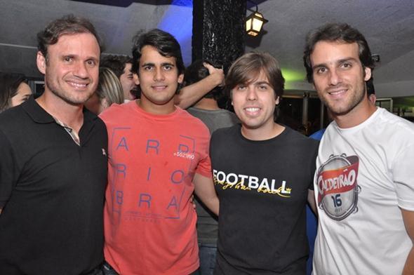 Waldemar Valente, Paulo Labanca, Ciro Couceiro e Bruno Ramos - Crédito: Go Network/ Divulgação