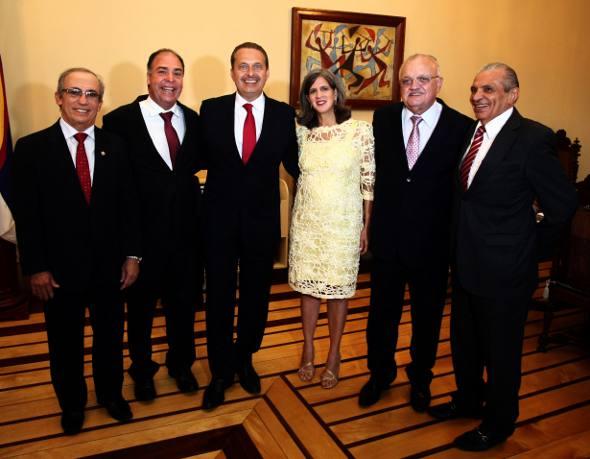 Aguinaldo Fenelon, Fernando Bezerra Coelho, Eduardo e Renata Campos, Guilherme Uchoa e Inocêncio Oliveira/ Aloísio Moreira