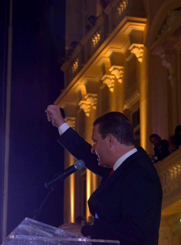 Encerramento do discurso de Eduardo Campos/ Eduardo Braga