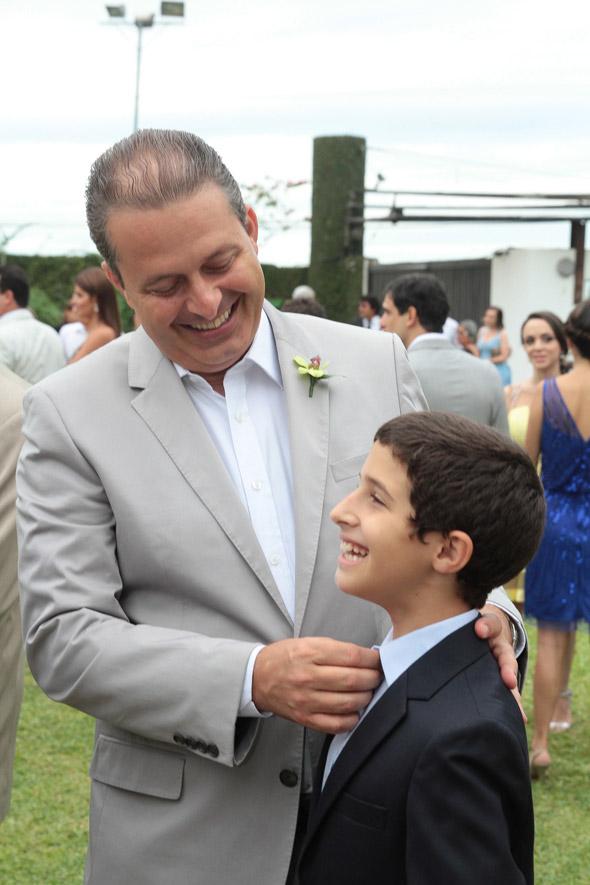 Eduardo Campos com o filho Jose - Credito: Nando Chiappetta/DP/D.A Press