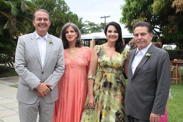Eduardo e Renata Campos, Leila e João Lyra foram alguns dos padrinhos – Credito: Nando Chiappetta/DP/D.A Press
