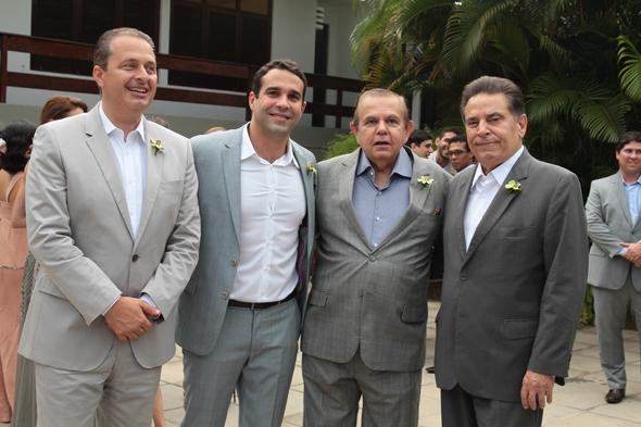 Eduardo Campos, Carlos Percol, Joao Alberto e Joao Lyra Neto - Credito: Nando Chiappetta/DP/D.A Press