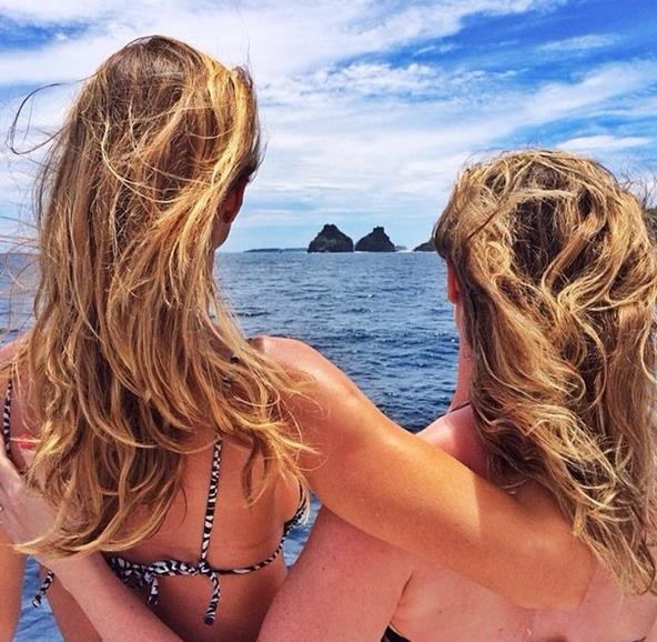 Gisele e a irmã Patrícia Crédito: Instagram