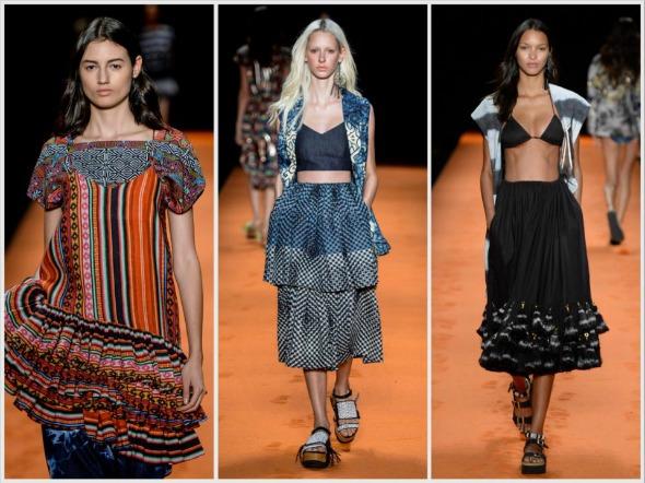 Saias com camadas foram destaques na coleção da Oh Boy no Fashion Rio - Créditos: Agência Fotosite/Divulgação