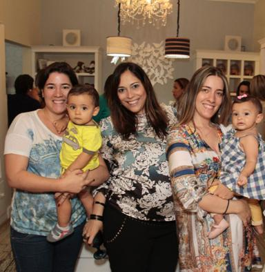 Mariana e Lucas Sampaio, Raquel Mussalém, Paula e Olivia Sampaio. Crédito: Gleyson Ramos / Divulgação