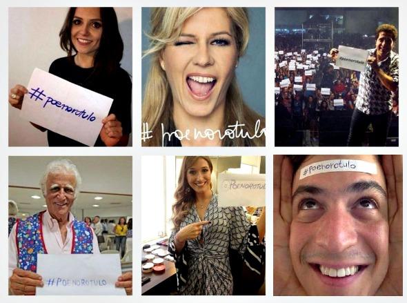 Mônica Iozzi, Paula Toller, Daniel, Zieraldo, Gabriela Pugliesi e Mateus Solano aderiram ao Movimento Põe no Rótulo - Créditos: Reprodução do Instagram