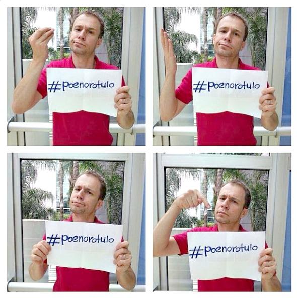 O apresentador Tiago Leifert apoia o Movimento - Crédito: Reprodução do instagram